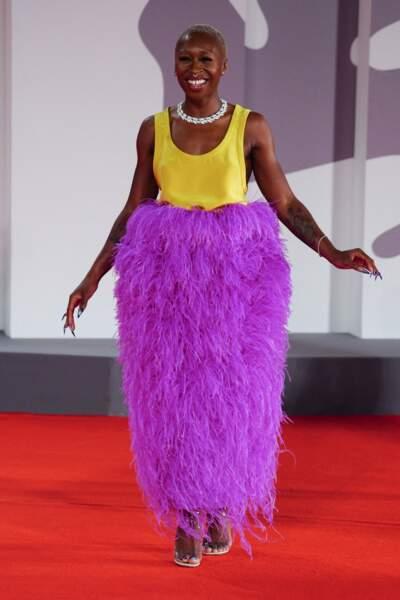 Cynthia Erivo dans une robe Valentino Couture à la Mostra, le 4 septembre