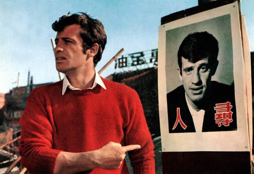 """Jean-Paul Belmondo sur le tournage du film """"Les tribulations d'un chinois en Chine"""". 1965"""