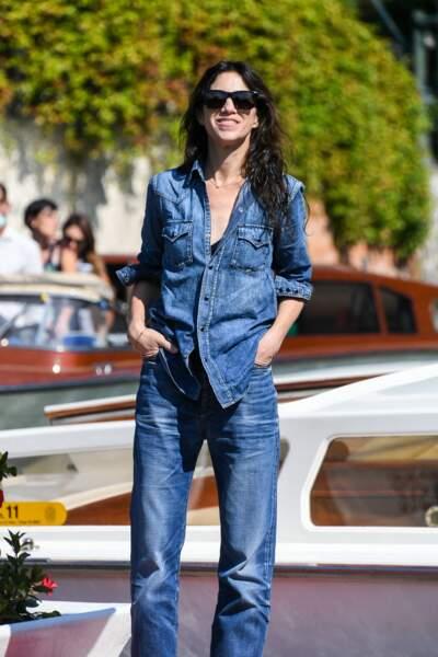 Charlotte Gainsbourg : cheveux xxl et effet wet, à Venise, le 5 septembre 2021.