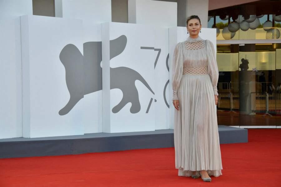 Maria Sharapova à la première du film Illusions perdues lors du festival international du film de Venise.