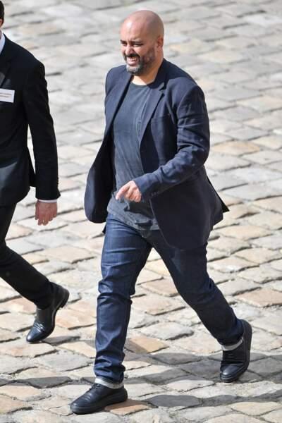 Jérôme Commandeur lors de l'hommage national à Jean-Paul Belmondo dans la cour des Invalides, à Paris, le jeudi 9 septembre 2021.