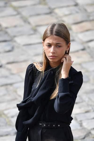 Stella Belmondo lors de l'hommage national à Jean-Paul Belmondo dans la cour des Invalides, à Paris, le jeudi 9 septembre 2021