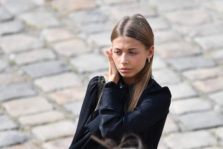 Stella Belmondo lors de l'hommage national à Jean-Paul Belmondo dans la cour des Invalides, à Paris, le jeudi 9 septembre 2021.