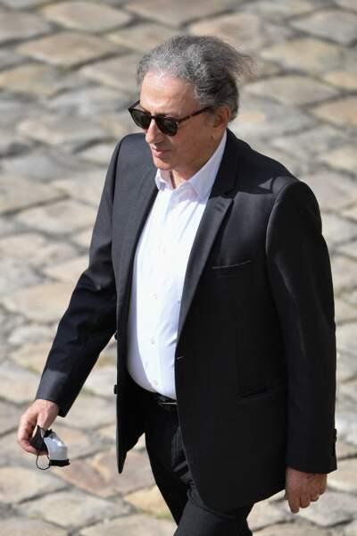 Michel Drucker lors de l'hommage national à Jean-Paul Belmondo dans la cour des Invalides, à Paris, le jeudi 9 septembre 2021.
