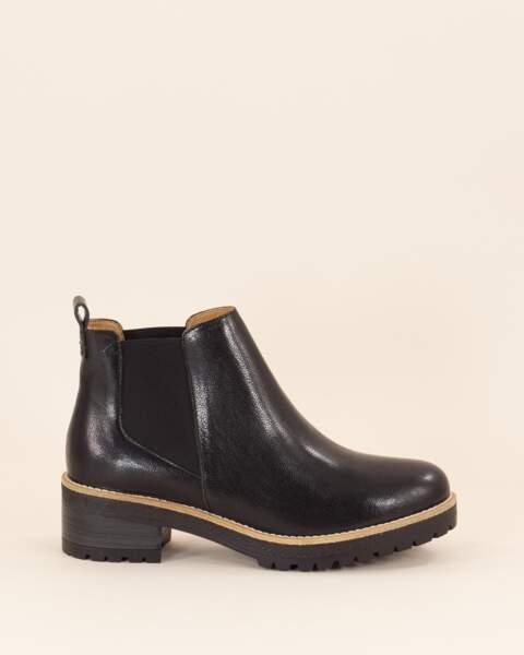 Boots 100% cuir de chèvre, Sessùn, 285€