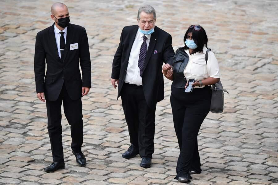 Paul-Loup Sulitzer durant l'hommage national à Jean-Paul Belmondo dans la cour des Invalides, à Paris, le jeudi 9 septembre 2021.