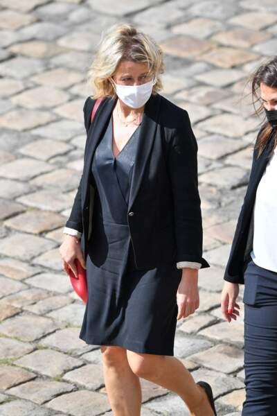 Barbara Pmpili lors de l'hommage national à Jean-Paul Belmondo dans la cour des Invalides, à Paris, le jeudi 9 septembre 2021.