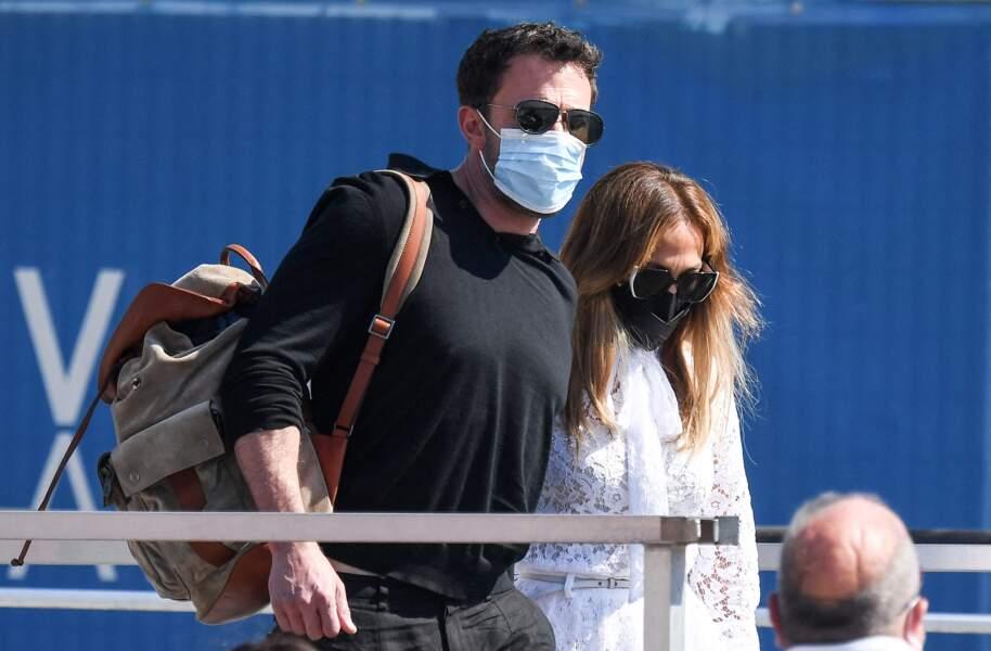 Jennifer Lopez et Ben Affleck lors de leur arrivée à la Mostra de Venise