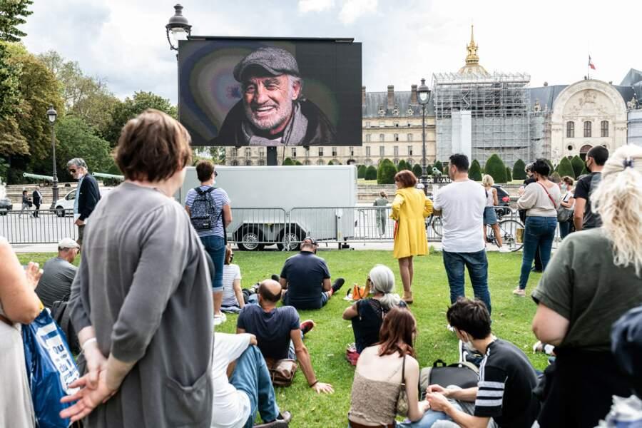 L'hommage national à Jean-Paul Belmondo dans la cour des Invalides, à Paris, le jeudi 9 septembre 2021.