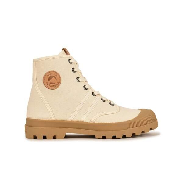 Boots authentique en toile ivoire, Pataugas, 95€