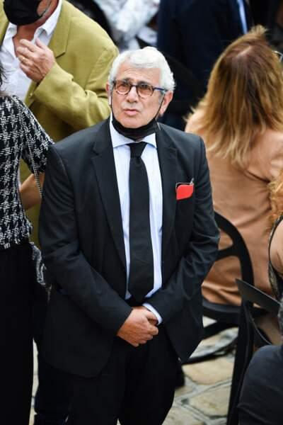 Michel Boujenah durant l'hommage national à Jean-Paul Belmondo dans la cour des Invalides, à Paris, le jeudi 9 septembre 2021.