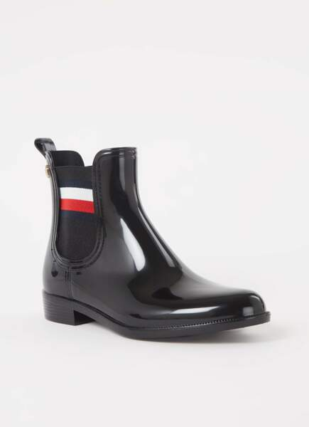 Bottines de pluie, Tommy Hilfiger pour deBijenkorf.fr, 89,90€