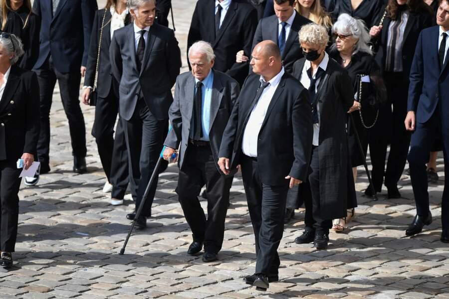 Alain Belmondo lors de l'hommage national à Jean-Paul Belmondo dans la cour des Invalides, à Paris, le jeudi 9 septembre 2021.