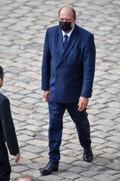 Eric Dupond-Moretti lors de l'hommage national à Jean-Paul Belmondo dans la cour des Invalides, à Paris, le jeudi 9 septembre 2021.