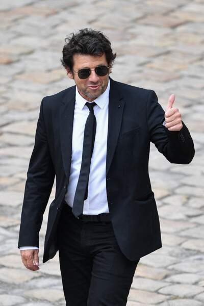 Patrick Bruel durant l'hommage national à Jean-Paul Belmondo dans la cour des Invalides, à Paris, le jeudi 9 septembre 2021.