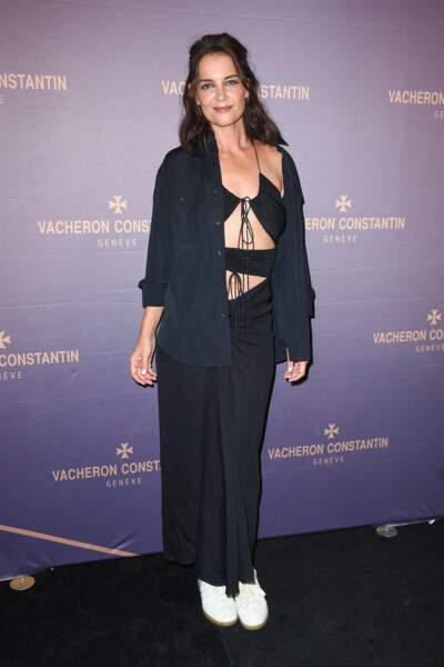 Katie Holmes fait sensation dans une tenue fluide qui montre son ventre, le 8 septembre 2021.