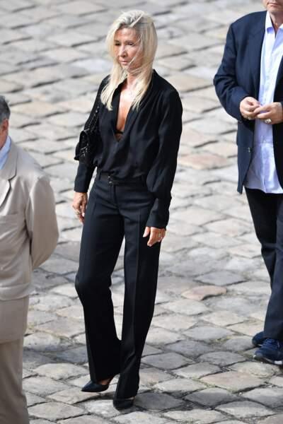 Natty Tardivel Belmondo lors de l'hommage national à Jean-Paul Belmondo dans la cour des Invalides, à Paris, le jeudi 9 septembre 2021.