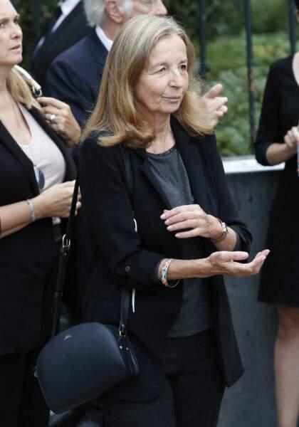Françoise Vidal, la femme de Jean Rochefort, à son arrivée aux obsèques de Jean-Paul Belmondo, à l'église Saint-Germain-des-Prés, à Paris, le 10 septembre 2021