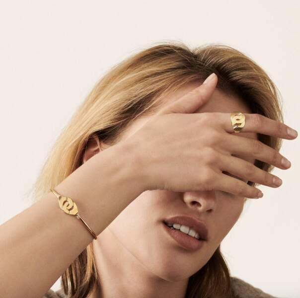 Bague et bracelet Menottes, Dinh Van, prix sur demande.