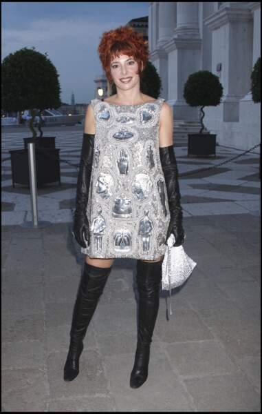 Mylène Farmer lors de la biennale de Venise en 2007