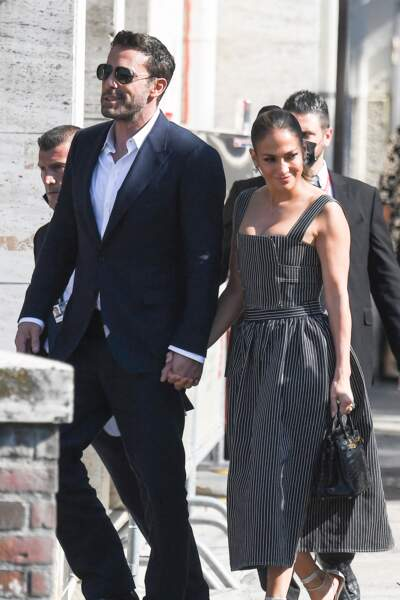 Jennifer Lopez et Ben Affleck, assortis et élégants à Venise, le 10 septembre 2021.