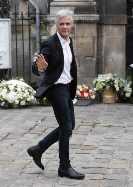 Cyril Viguier à son arrivée aux obsèques de Jean-Paul Belmondo, à l'église Saint-Germain-des-Prés, à Paris, le 10 septembre 2021