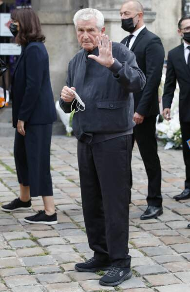 Claude Lelouch à son arrivée aux obsèques de Jean-Paul Belmondo, à l'église Saint-Germain-des-Prés, à Paris, le 10 septembre 2021