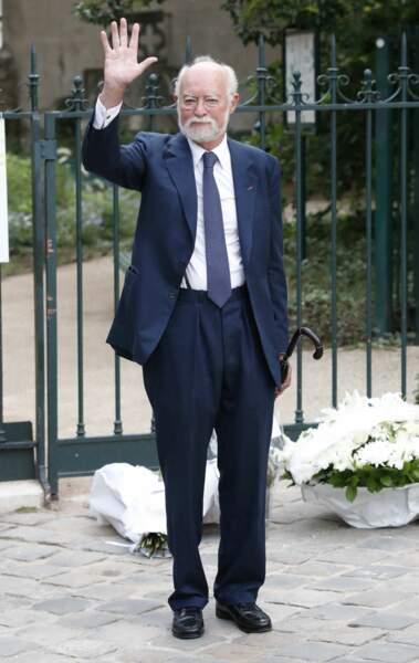 Nicolas Seydoux à son arrivée aux obsèques de Jean-Paul Belmondo, à l'église Saint-Germain-des-Prés, à Paris, le 10 septembre 2021