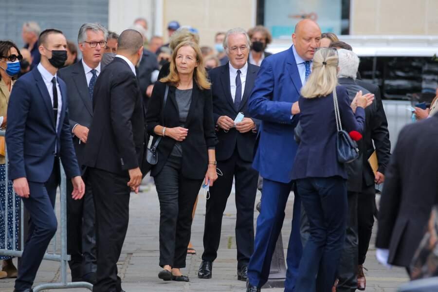 Bernard Le Coq à son arrivée aux obsèques de Jean-Paul Belmondo, à l'église Saint-Germain-des-Prés, à Paris, le 10 septembre 2021