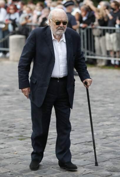 Norbert Saada à son arrivée aux obsèques de Jean-Paul Belmondo, à l'église Saint-Germain-des-Prés, à Paris, le 10 septembre 2021