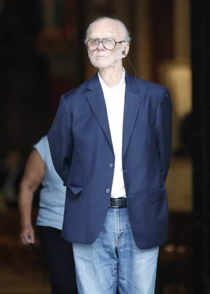 Christian Brincourt à son arrivée aux obsèques de Jean-Paul Belmondo, à l'église Saint-Germain-des-Prés, à Paris, le 10 septembre 2021
