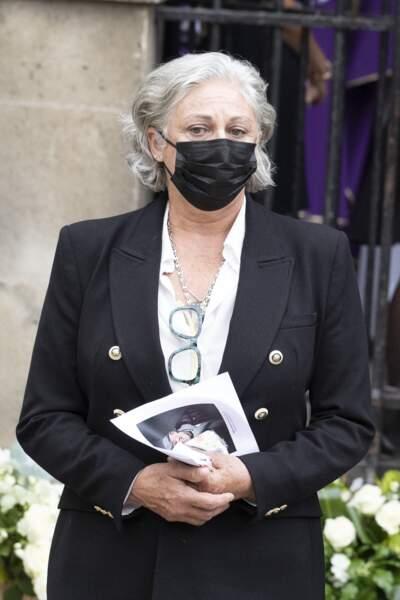 Florence Belmondo aux obsèques de Jean-Paul Belmondo, à l'église Saint-Germain-des-Prés, à Paris, le 10 septembre 2021