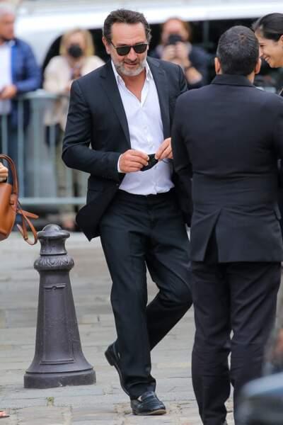 Gilles Lellouche à son arrivée aux obsèques de Jean-Paul Belmondo, à l'église Saint-Germain-des-Prés, à Paris, le 10 septembre 2021