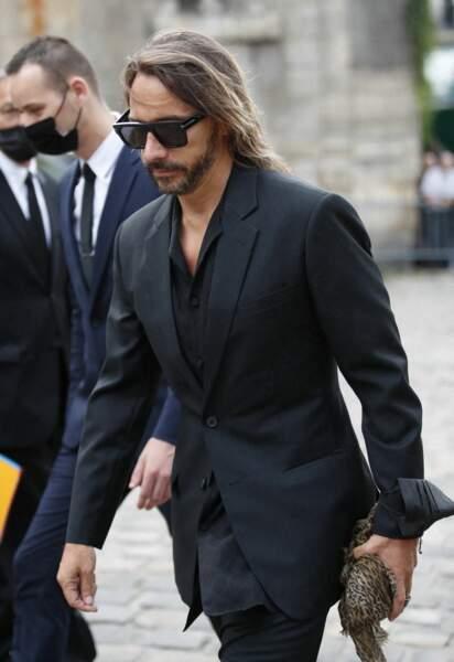 Bob Sinclar à son arrivée aux obsèques de Jean-Paul Belmondo, à l'église Saint-Germain-des-Prés, à Paris, le 10 septembre 2021