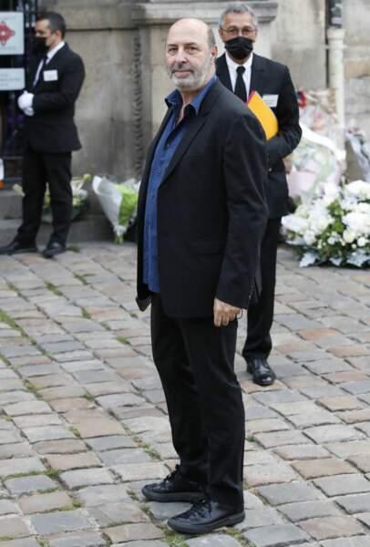 Cédric Klapisch à son arrivée aux obsèques de Jean-Paul Belmondo, à l'église Saint-Germain-des-Prés, à Paris, le 10 septembre 2021