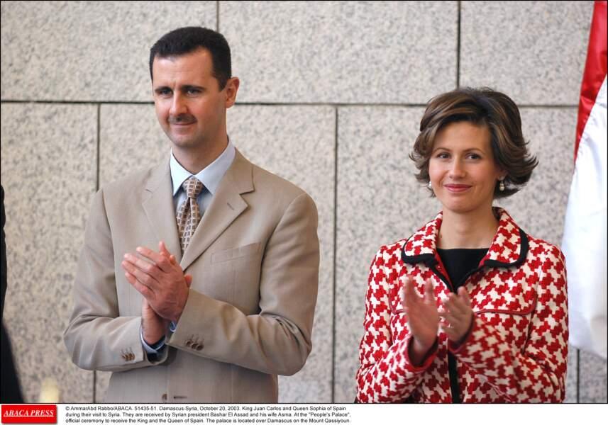 Le président syrien Bashar Al Assad et son épouse Asma