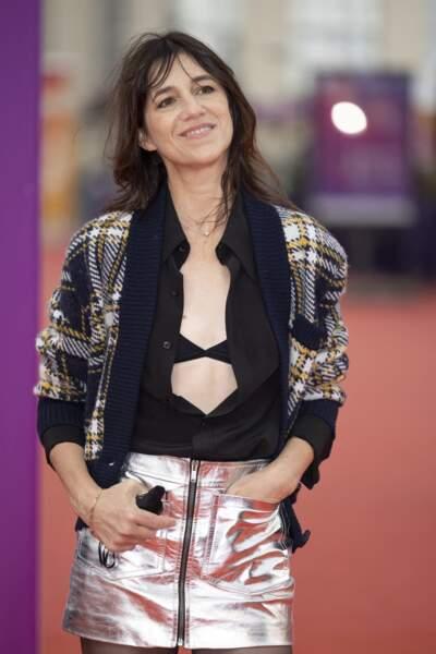 """Charlotte Gainsbourg lors de la première du film """"Dune"""" au Festival du Cinéma Américain de Deauville, le 10 septembre 2021."""