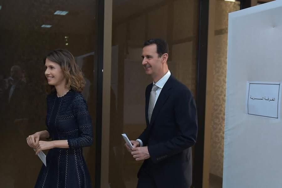 Bashar Al Assad et sa femme votent pour les élections législatives