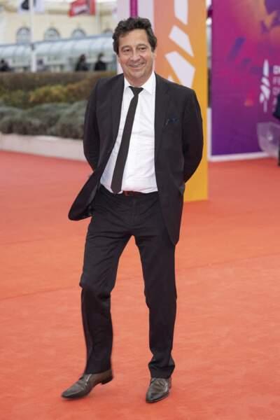 """Laurent Gerra à la première du film """"Dune"""" lors de la 47éme édition du Festival du Cinéma Américain de Deauville, le 10 septembre 2021."""