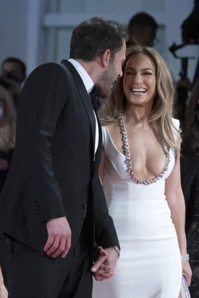Ben Affleck et Jennifer Lopez rayonnants et souriants pour l'événement, ce vendredi 10 septembre