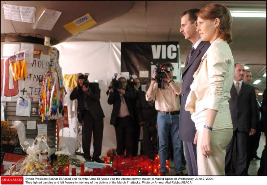 Bashar Al Assad et Asma Al Assad à Madrid