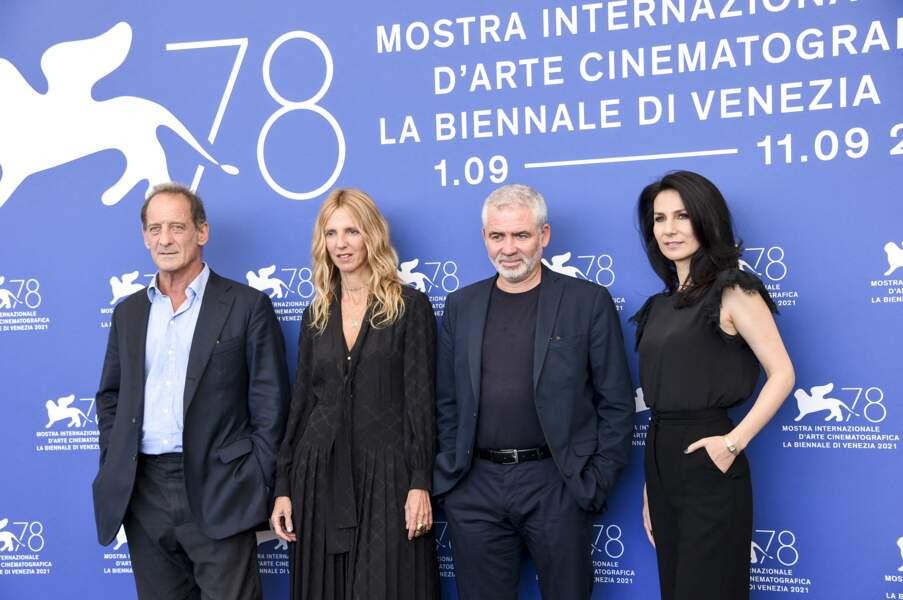 Vincent Lindon, Sandrine Kiberlain, Marie Drucker et Stéphane Brizé réunis lors du festival international du film de Venise