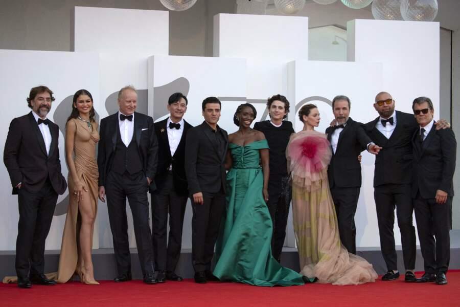 Car le voyage vénitien était avant tout professionnel : Javier Bardem est à l'affiche du film Dune.