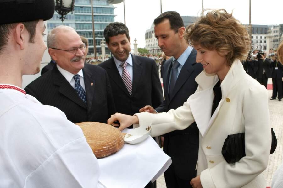 Le couple présidentiel syrien visite la Slovaquie