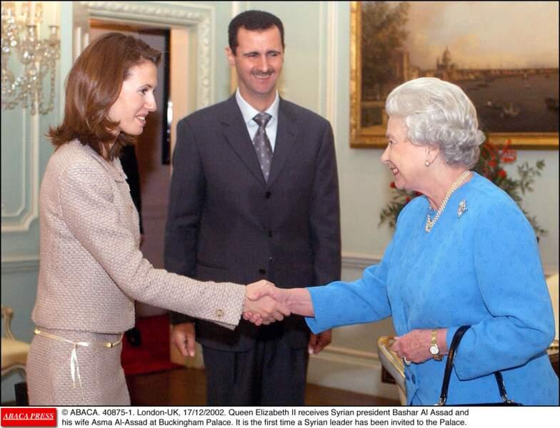 La famille Al-Assad avec la reine