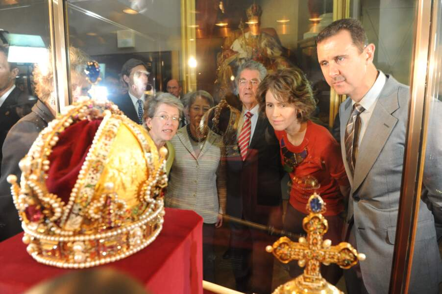 Bachar al-Assad et sa femme en visite