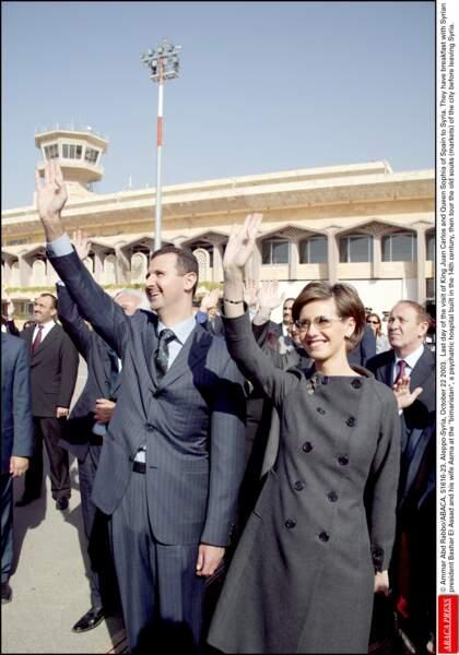 Bashar Al Assad et son épouse Asma en Syrie