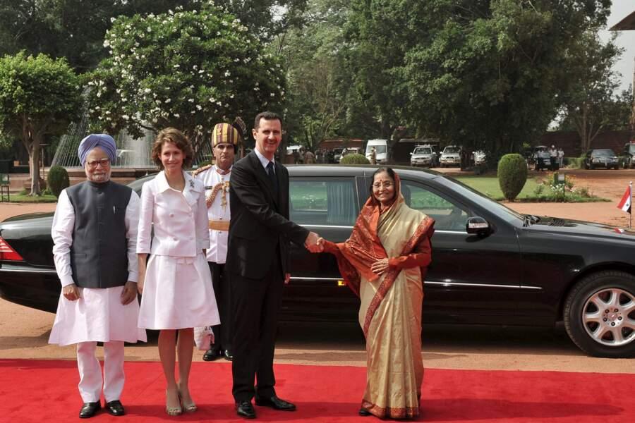 Bashar Al Assad et son épouse Asma en Inde
