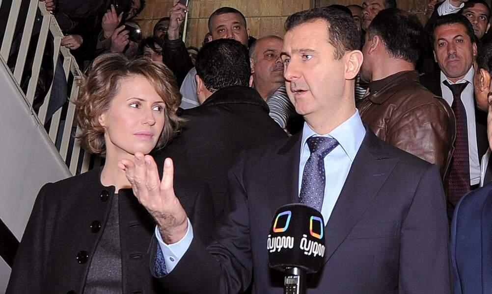 Bachar al-Assad vote pour le référendum