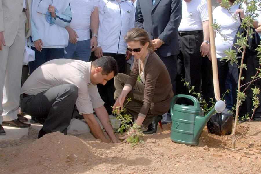 Bashar al Assad et son épouse en Syrie